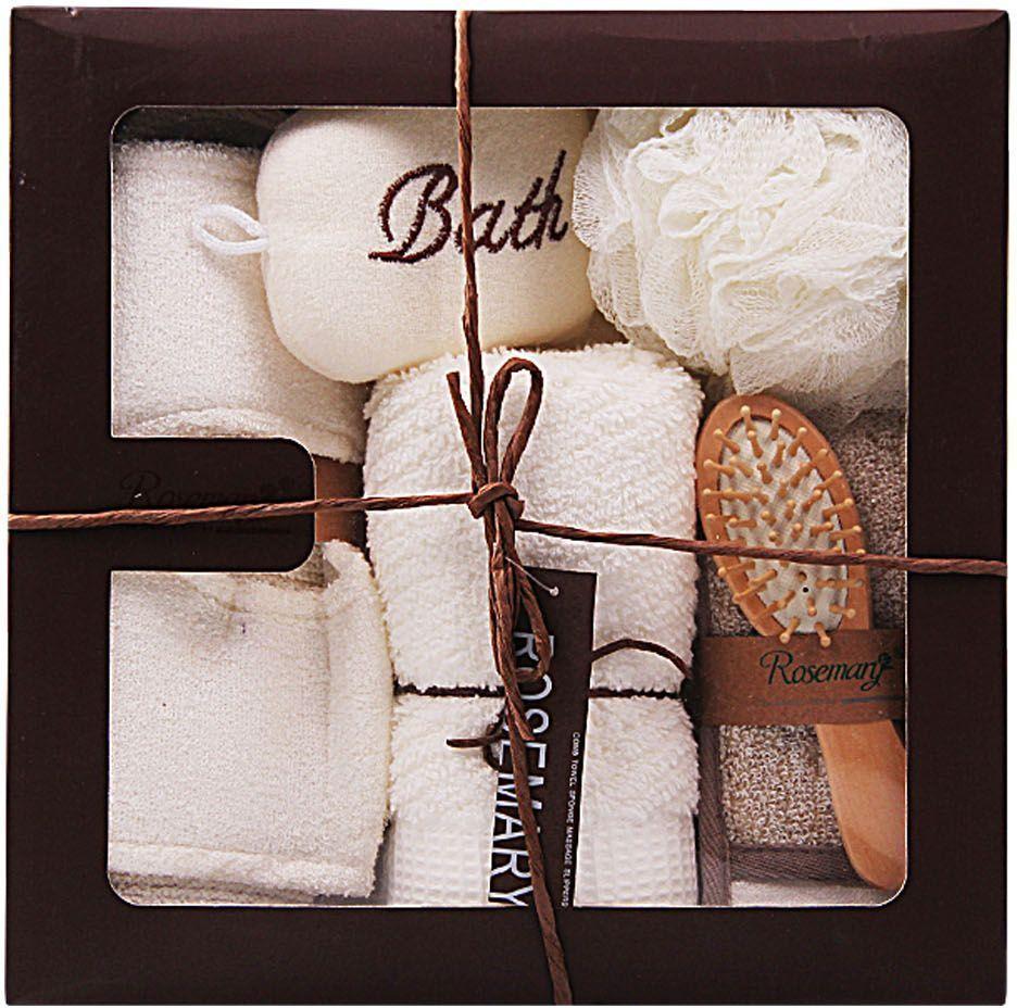Набор банных аксессуаров Patricia, 6 предметов, цвет: белый. IM99-1341 patricia часы 19 15 32 см