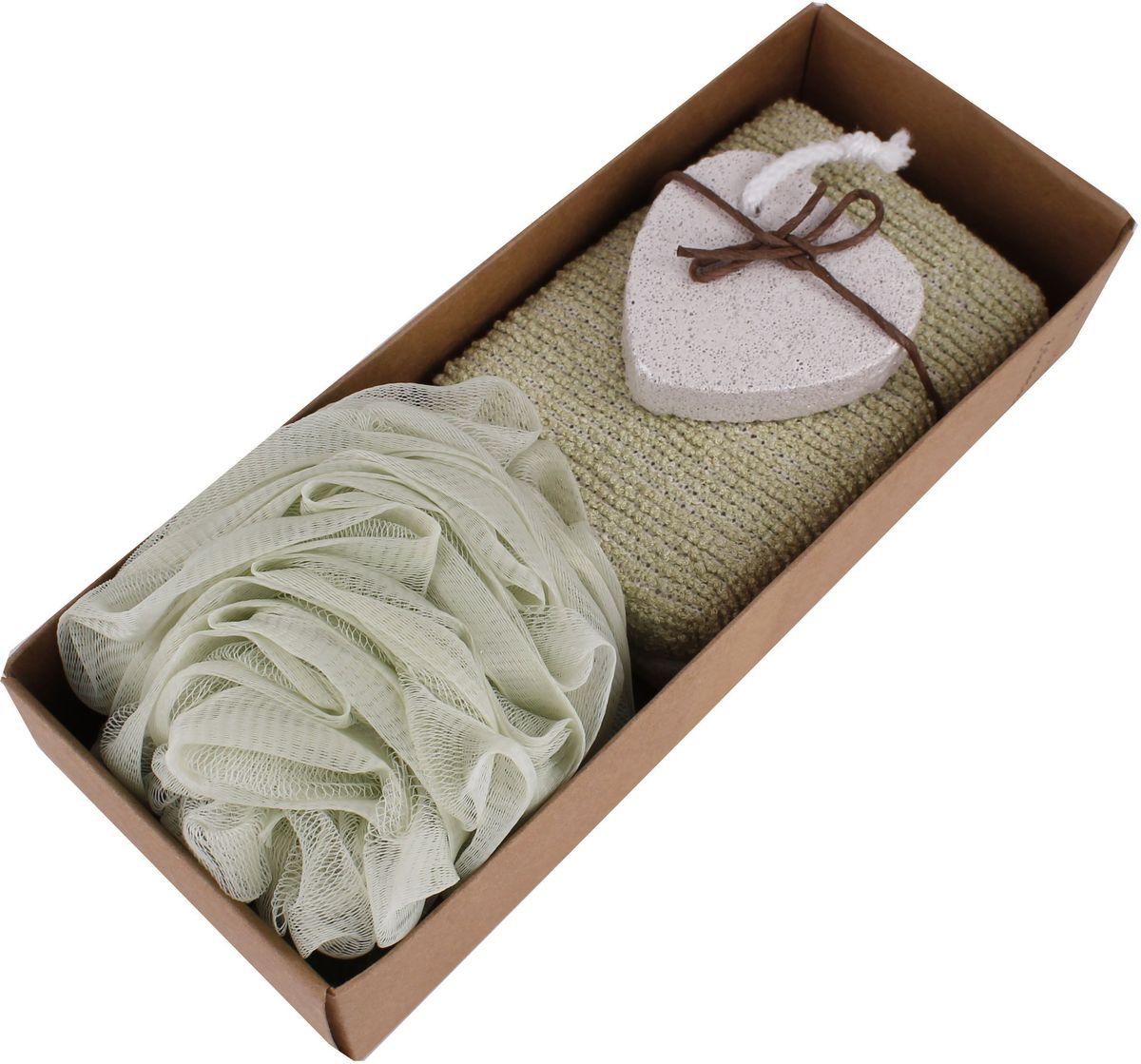 Набор банных аксессуаров Patricia, 3 предмета, цвет: зеленый. IM99-1342/3 набор для специй patricia 4 предмета im99 3920