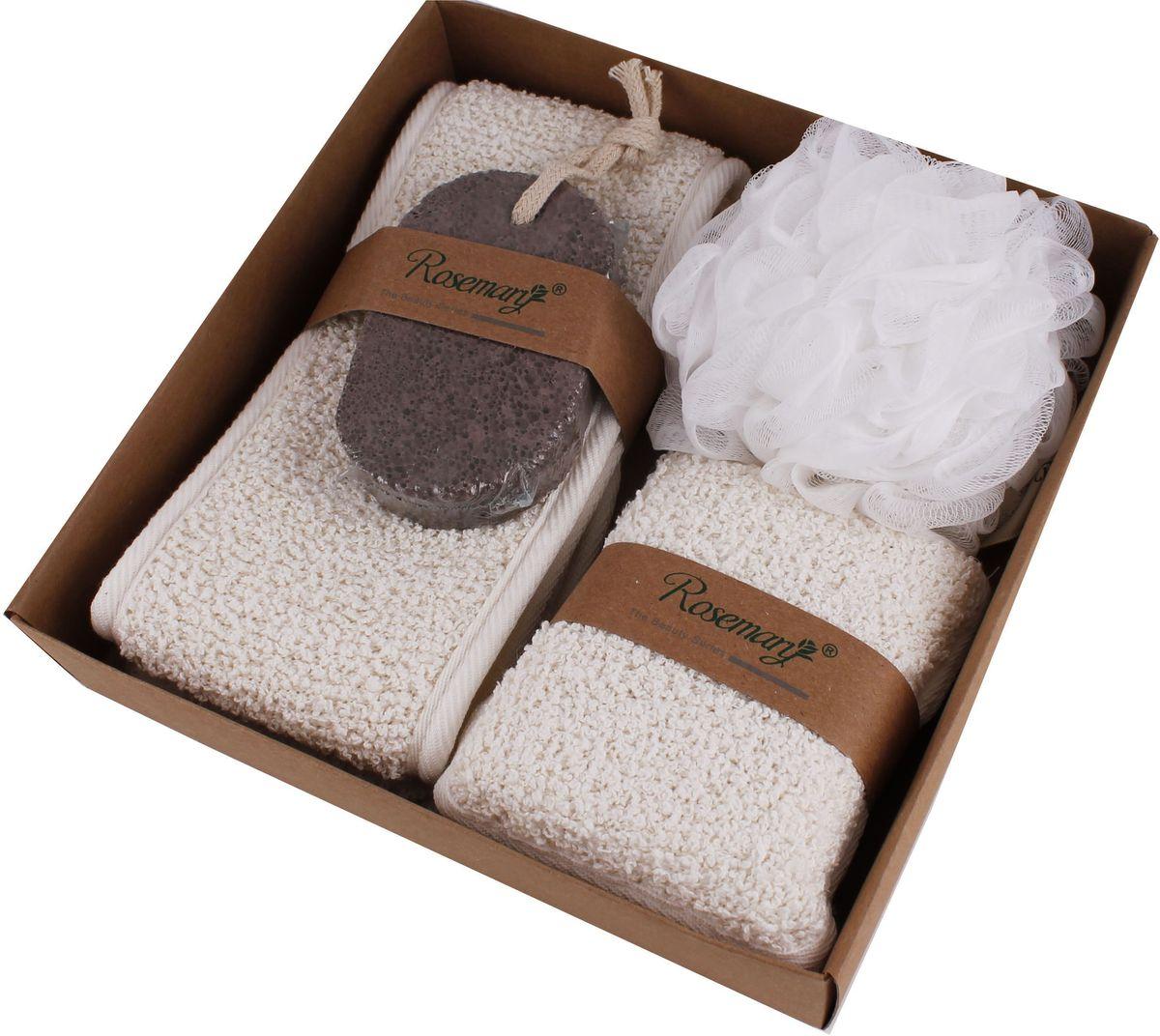 Набор банных аксессуаров Patricia, 4 предмета, цвет: белый, бежевый. IM99-1344 набор для специй patricia 4 предмета im99 3920
