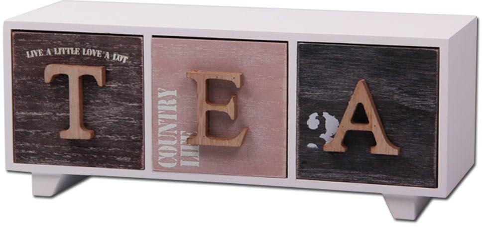 Шкатулка Patricia, для чайных пакетиков, цвет: белый, 13,5 х 20 х 12 см. IM99-2639 patricia часы 19 15 32 см