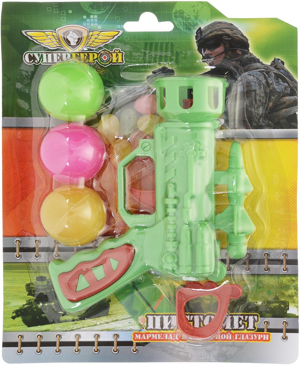 Конфитрейд Пистолет с шарами фруктовый мармелад с игрушкой, 10 г бумба крутые виражи жевательный мармелад 105 г