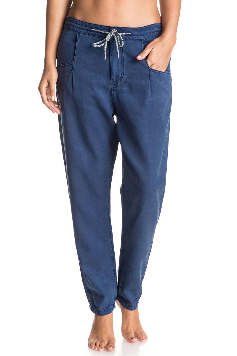 куртка женская roxy billie цвет бирюзовый erjtj03121 bfk0 размер s 42 Брюки женские Roxy Man Of Life, цвет: синий. ERJDP03139-BTA0. Размер 42 (S)