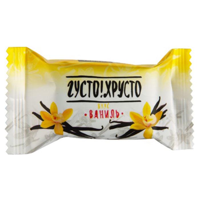 Густо Хрусто Ваниль конфеты глазированные вафельные, 500 г4660028080260Классические вафельные конфеты, состоящие из хрустящих вафель в сочетании с нежной начинкой, передающей незабываемый вкус наслаждения от столь полюбившихся традиционных десертов с ароматами ванили.