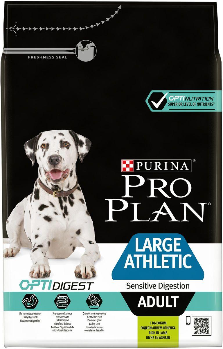 Корм сухой Pro Plan Adult Large Athletic, для взрослых собак крупных пород с атлетическим телосложением, с ягненком, 3 кг корм purina pro plan medium large adult 7 сanine sensitive skin dry 14 кг