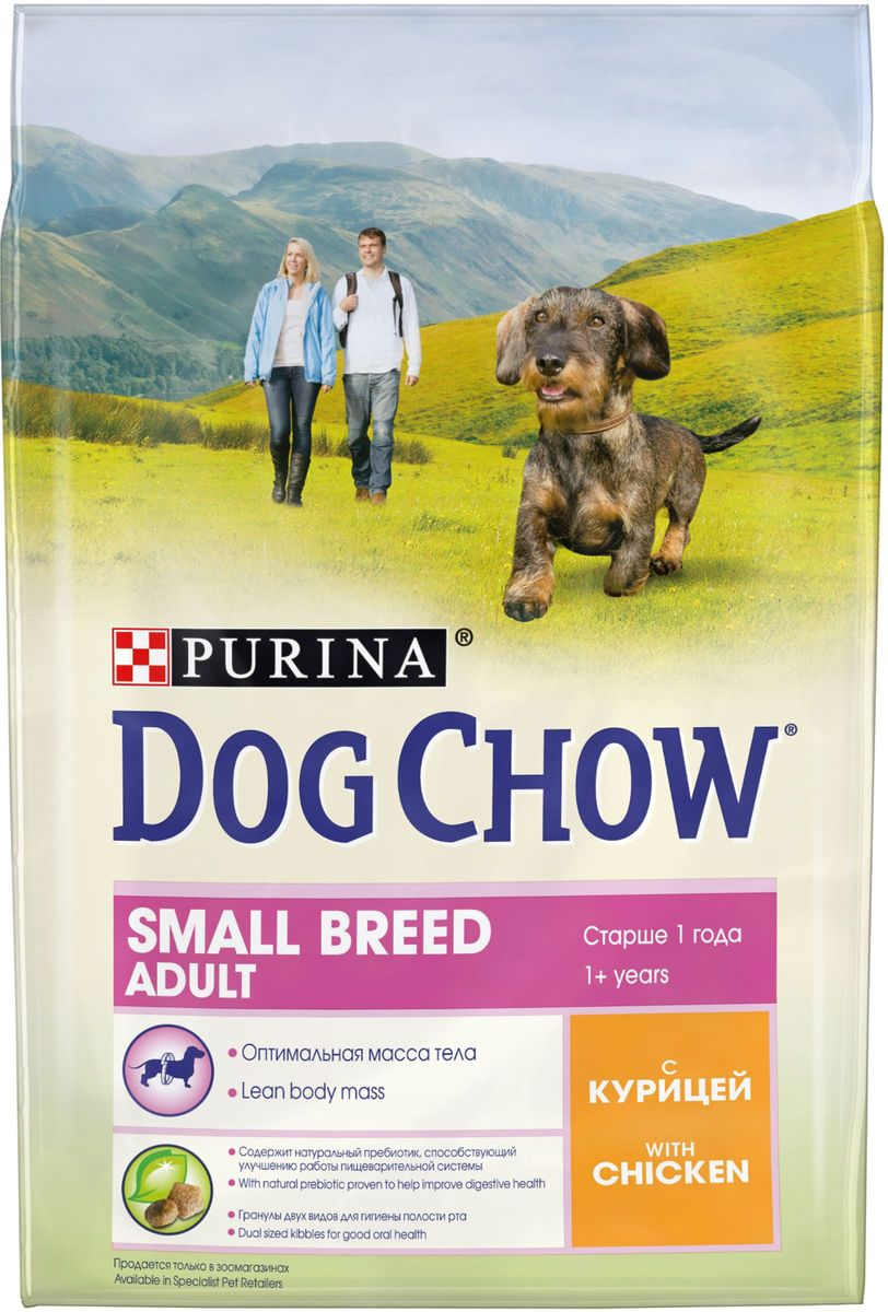 Корм сухой Dog Chow, для взрослых собак мелких пород, с курицей, 2,5 кг