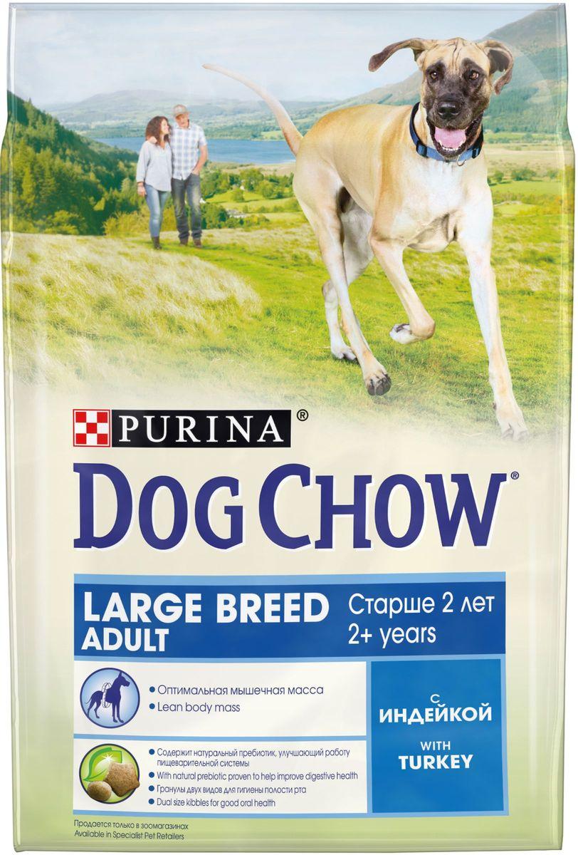 Корм сухой Dog Chow Adult Large Breed для взрослых собак крупных пород старше 2 лет, с индейкой, 2,5 кг фурминатор для собак короткошерстных пород furminator short hair large dog
