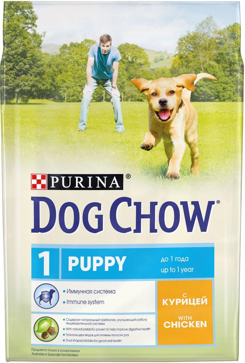 Корм сухой Dog Chow Puppy для щенков до 1 года, с курицей, 2,5 кг корм dog chow senior ягненок 2 5kg для собак старше 9 лет 12308782