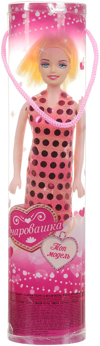 Конфитрейд Очаровашка Кукла фруктовый мармелад с игрушкой, 10 г бумба крутые виражи жевательный мармелад 105 г
