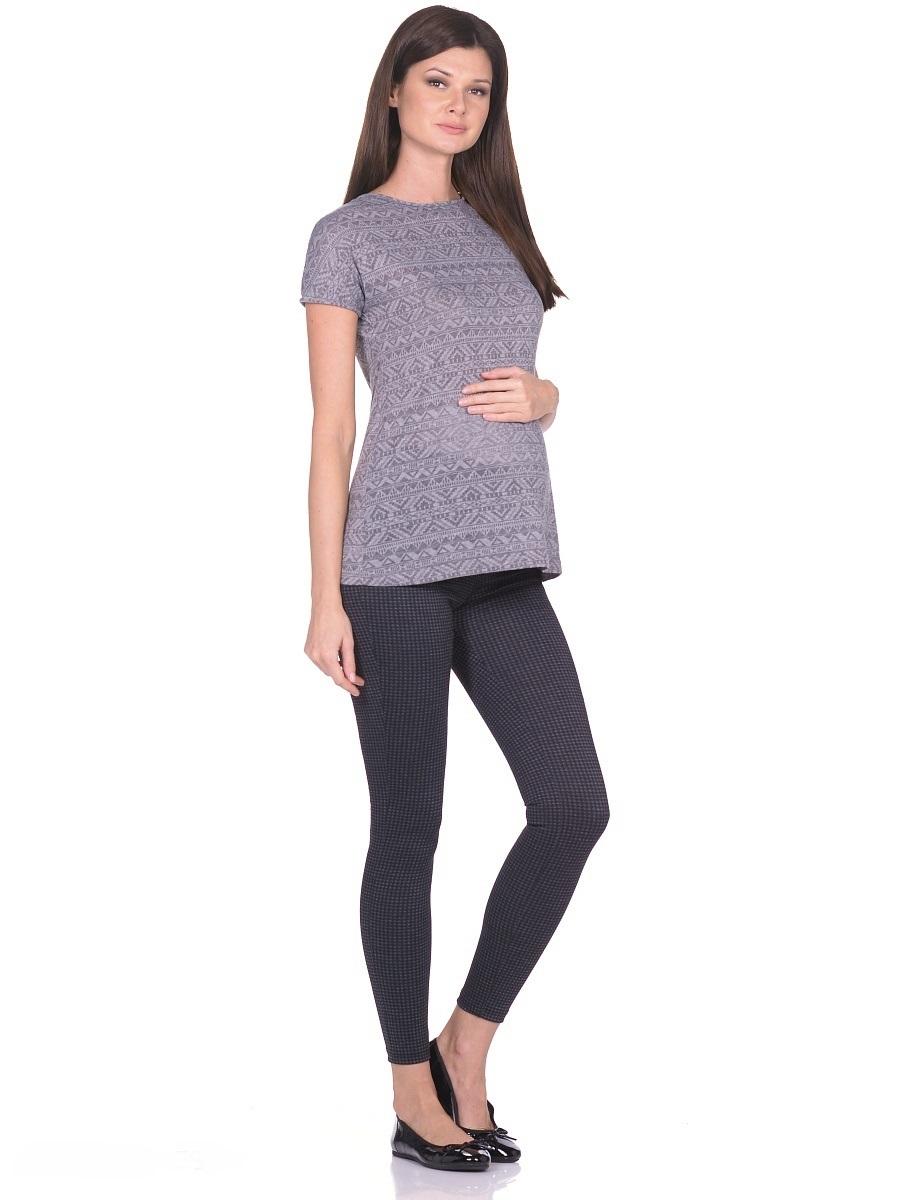 Фото Брюки для беременных 40 недель, цвет: черный, серый. 103128. Размер 46