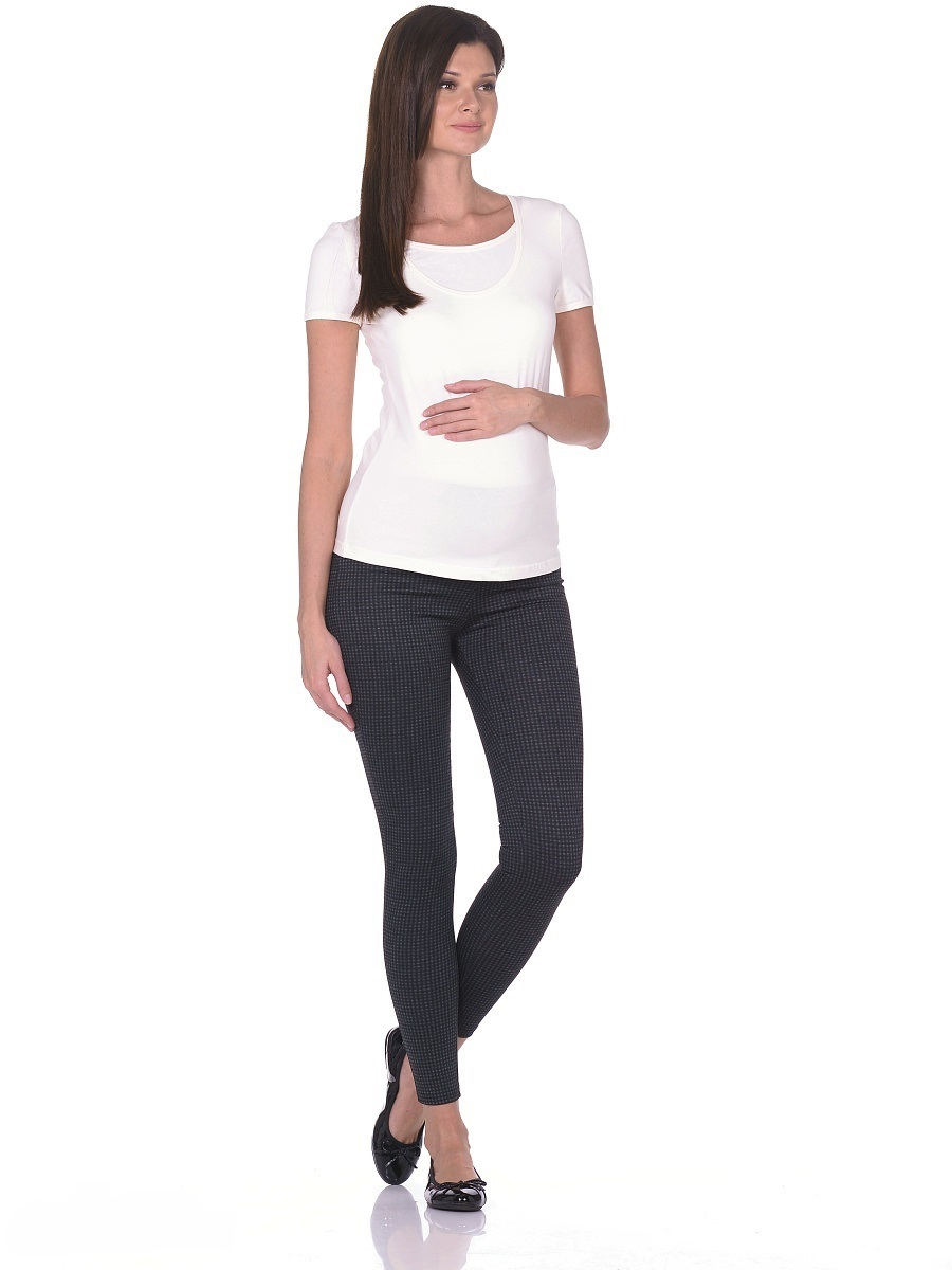 Брюки для беременных 40 недель, цвет: черный, зеленый. 103128. Размер 46103128Стильные и комфортные брюки для беременных от бренда 40 недель - прекрасный выбор на каждый день! Модель с трикотажной кокеткой для животика и регулируемой резинкой в поясе. Брюки с задними накладными карманами, зауженные к низу, мягко облегают фигуру обеспечивая отличную посадку, не сковывают движений. Трикотажная кокетка создает комфорт для животика по мере его роста. Модель в современной расцветке нейтральных оттенков сочетается со многими предметами одежды и обуви, подходит на протяжении всего срока беременности и после него.