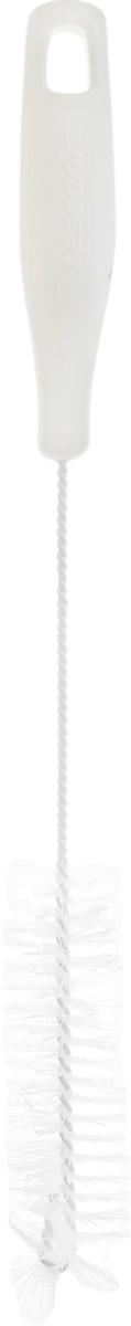 Щетка для посуды Tescoma CleanKit, длина 31 см900665Ершик Tescoma CleanKit предназначен для мытья посуды. Изделие оснащено жесткой прочной щетиной, выполненной из высококачественного термостойкого нейлона и закрепленной на металлическом крученом стержне. Эргономичная рукоятка, изготовленная из пластика, оснащена отверстием для подвешивания.Длина щетки: 31 см. Размер рабочей части: 11 х 3 х 3 см.
