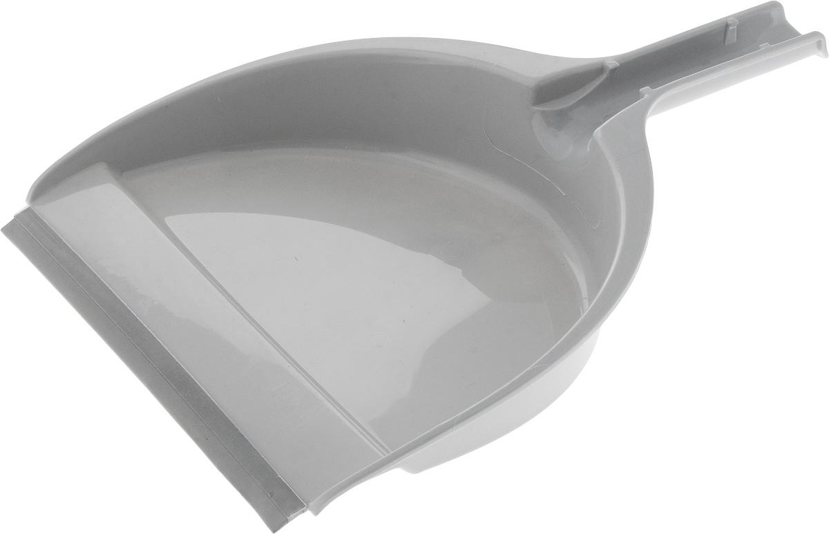 Совок Apex Big, с резиновым краем, цвет: серый, 33,5 х 23 х 6 см