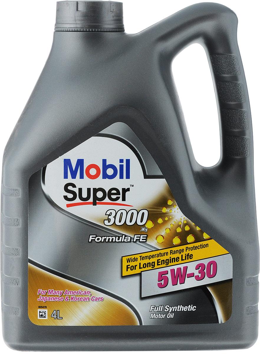 Масло моторное Mobil Super 3000 X1 Formula FE, синтетическое, класс вязкости 5W-30, 4 л моторное масло mobil 1 esp formula 5w 30 4 л синтетическое