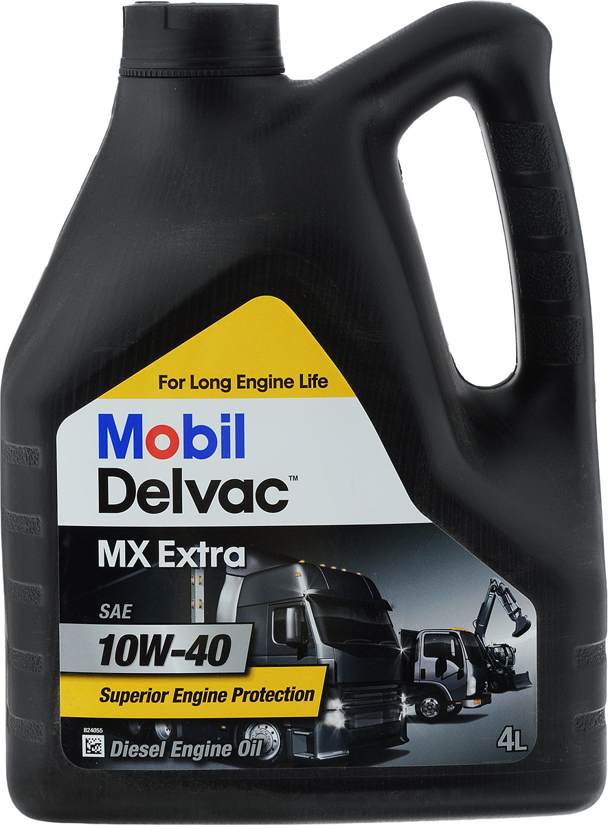 Масло моторное Mobil Delvac MX Extra, синтетическое, класс вязкости 10W-40, 4 л150432Mobil Delvac MX Extra - моторное масло с очень высокими эксплуатационными свойствам, созданное на основе высококачественных базовых масел и сбалансированного пакета присадок, обеспечивающих отличное смазывание, поддержание чистоты деталей и, соответственно, продление срока службы современных дизельных и бензиновых двигателей, работающих в тяжелых условиях, при этом:- обеспечивается чистота деталей двигателей и продлевает срок его службы, - обеспечивается пониженный износ подшипников, - уменьшается образование отложений и увеличивает срок службы масла,- обеспечивается быстрый пуск двигателя и уменьшение износа при работе в условиях холодного климата. Соответствует или превосходит требования: ACEA E7, Caterpillar ECF-2, Cummins CES 20077/20076. Имеет одобрения производителей: MB-Approval 228.3 / 235.28,Mack EO-M PLUS/EO-N, Volvo VDS-3, MAN M3275-1, Renault Trucks RLD-2, MTU Oil Category 2, Voith Retarder Oil Class В, Kamaz Euro-3,-4 & -5 engines, Avtodisel YaMZ-6-12. Рекомендовано к применению также для требований: ASEA B2/A2, Cummins 20072/20071, Detroit 7SE270 (4-Stroke Cycle), Renault Trucks RLD, Volvo VDS-2.Товар сертифицирован.