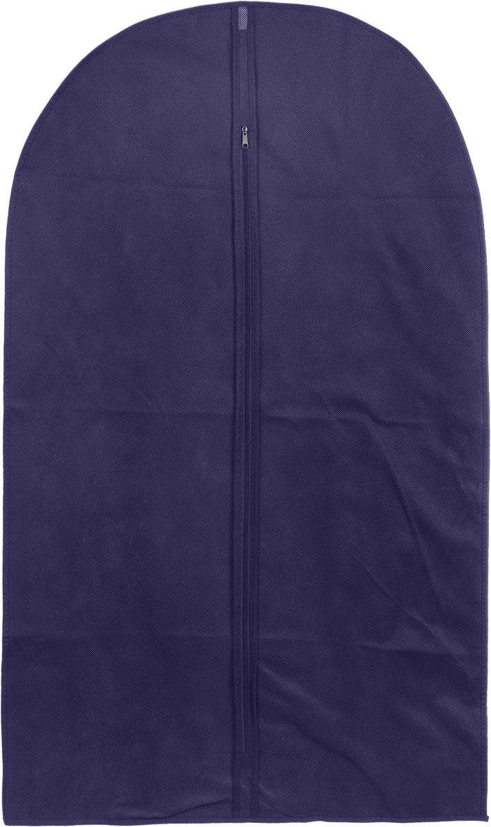 Чехол для одежды Home Queen, цвет: синий, 60 x 100 см53343Чехол для одежды Home Queen изготовлен из высококачественного нетканного материала, который обеспечивает естественную вентиляцию, позволяя воздуху проникать внутрь, но не пропускает пыль. Чехол очень удобен в использовании, а благодаря его форме, одежда не мнетсядаже при длительном хранении. Изделие легко открывается и закрывается застежкой-молнией. Чехол для одежды будет очень полезен при транспортировке вещей на близкие и дальниерасстояния, при длительном хранении сезонной одежды, а также при ежедневном хранениивещей из деликатных тканей.