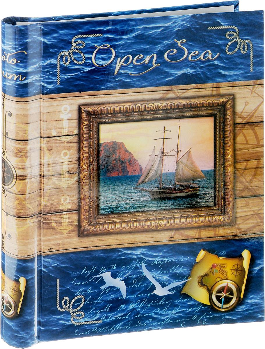 Фотоальбом Pioneer Open Sea, 20 магнитных листов, цвет: светло-коричневый, синий, 23 х 28 см фотоальбом pioneer innocence 10 магнитных листов 32 см х 32 см
