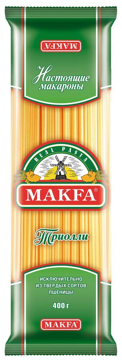 Makfa Оригинальная вермишель длинная триолли, 400 г коробка для чехлов printio санта