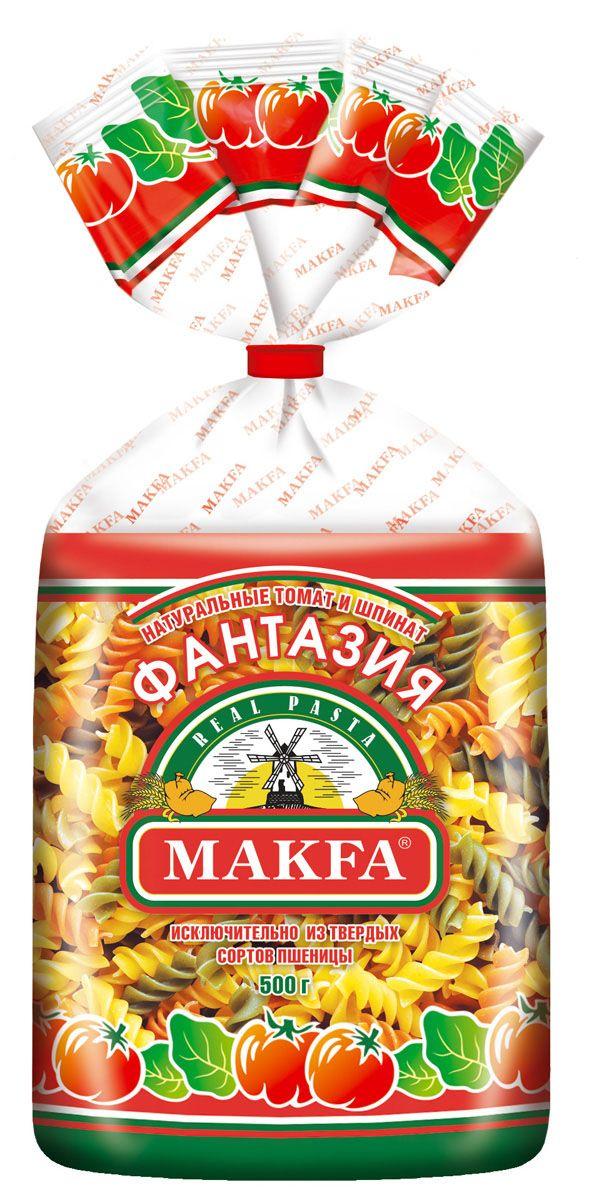 Makfa спирали фантазия, 500 г551-5Натуральный продукт, приготовленный по классической рецептуре макаронного теста: пшеничная мука высокого качества и чистейшая вода. Благодаря пшенице твердых сортов макароны Makfa прекрасно сохраняют форму и вкусовые свойства при варке. Разнообразие размеров, форм и форматов – это кулинарный простор для искушенных гурманов и затейливых хозяек.