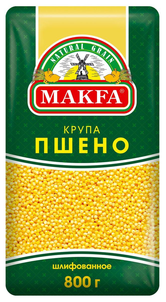Makfa пшено шлифованное, 800 г makfa гречневая ядрица 800 г