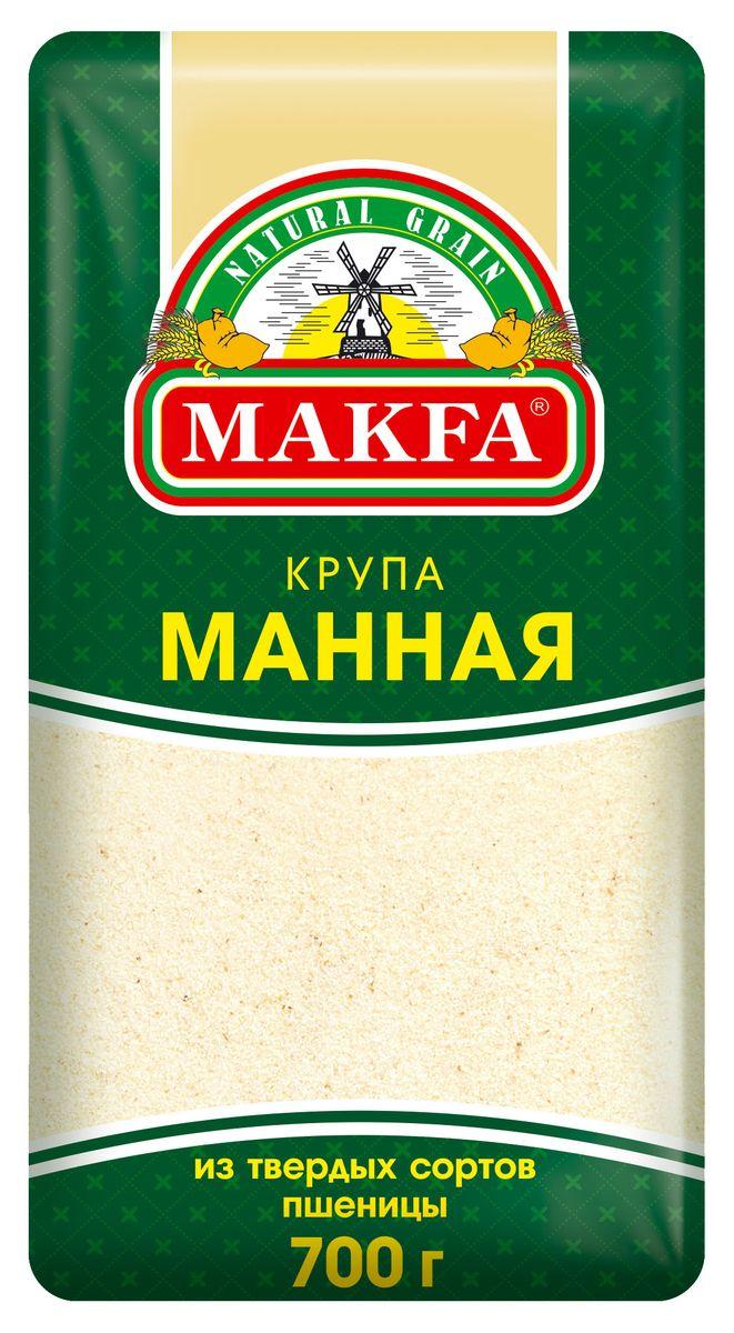 Makfa манная крупа, 700 г крупа makfa гречневая в пакетиках для варки 400г