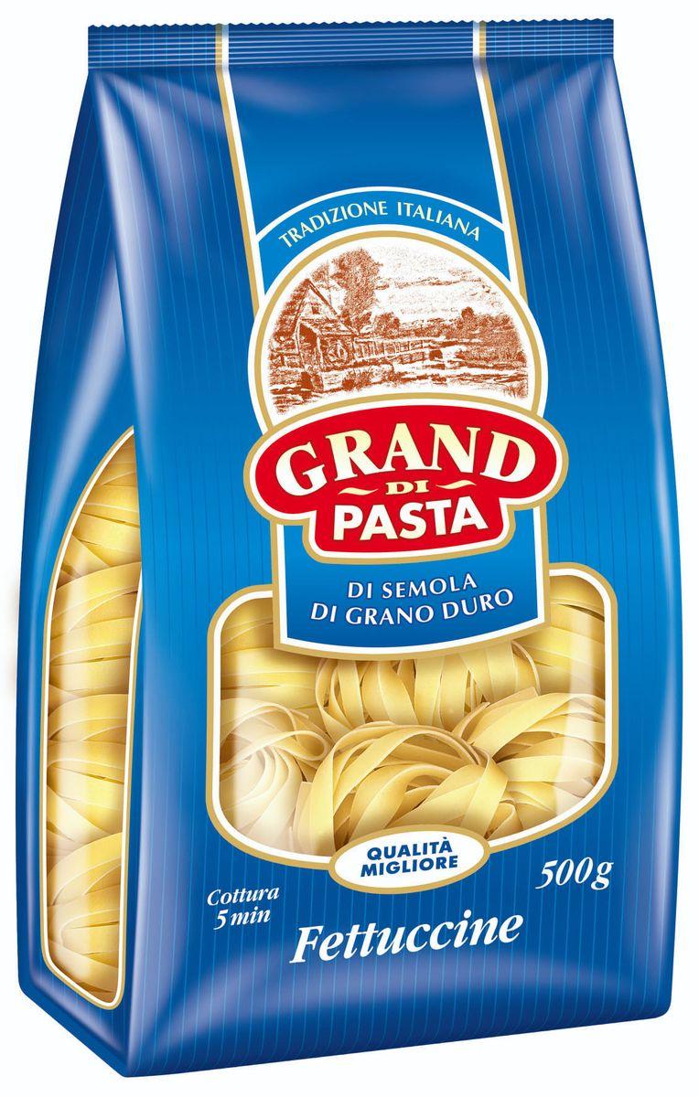 Grand Di Pasta гнезда феттучине, 500 г pasta zara перо гладкое макароны 500 г