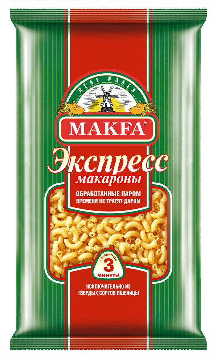 Makfa рожки экспресс, 400 г makfa гречневая ядрица 800 г