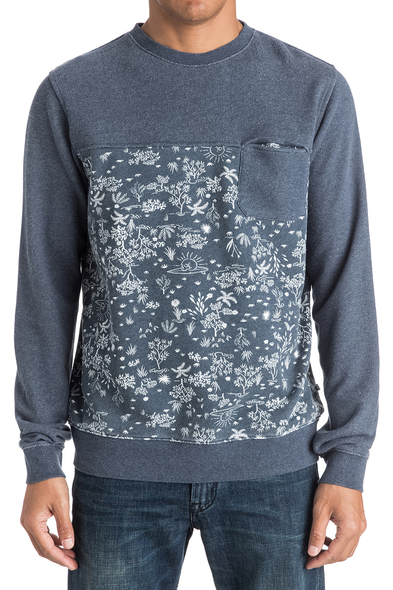 Джемпер мужской Quiksilver, цвет: серый. EQYFT03548-BYJH. Размер L (52)