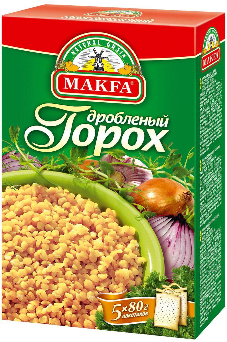 Makfa горох дробленый в пакетах для варки, 5 шт по 80 г крупа makfa гречневая в пакетиках для варки 400г
