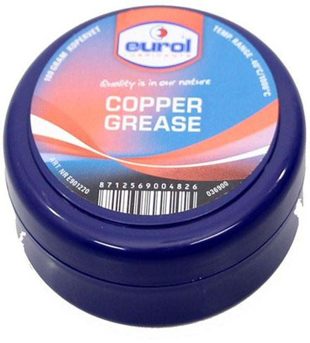 Смазка медная EUROL Copper Grease, 100 гE901220-100gВысокотемпературная медная смазка состоит из модифицированной глины (неплавкий бентон) и высококачественных компонентов меди, графита и аллюминия, а также ингибиторов против коррозии и окисления.Eurol Copper Grease lead-free обеспечивает долговременную защиту от коррозии и вредных внешних химических реакций. Не вымывается (соленой) водой.Eurol Copper Grease lead-free рекомендуется для смазывания кранов, резьбовых соединений, манифолдов, клем аккумуляторов, гаек колес, печей и тормозов, для предотвращения изгибания и трения. Демонтаж уплотнений и раскрутка резьбовых соединений упрощены даже после длительного влияния высоких температур, коррозии и больших нагрузок.Eurol Copper Grease lead-free смягчает поверхности и предотвращает от контакта металл-металл при затягивании болтов. Смазанные части защищены от атмосферного влияния.