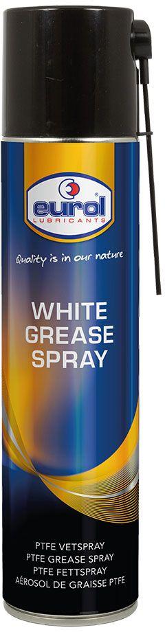 Смазка-спрей EUROL White Grease Spray with Ptfe, на литевой основе, с тефлоном, 400 млE701420-400mlСмазка-спрей EUROL White Grease Spray with Ptfe на литиевой основе с политетрафторэтиленом(тефлоном). Универсальная смазка для эффективного и длительного смазывания цепей, петлей,пружин, подшипников, осей, рессор, резьбовых соединений и многих других движущихся частей.Обладает высокой стойкостью к коррозии и температуре.
