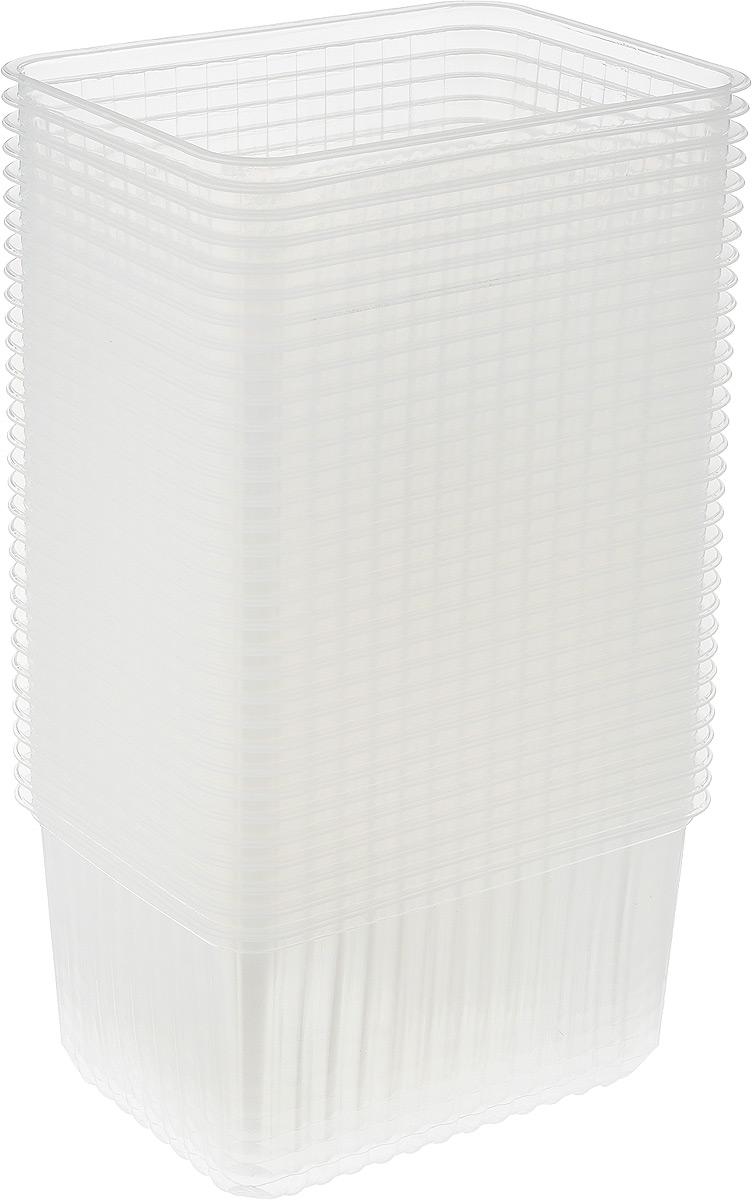 Набор контейнеров Стиролпласт, 1,5 л, 50 шПОС17496Набор контейнеров Стиролпласт, изготовленный из прочного полипропилена, отлично подходит для хранения и транспортировки пищевых продуктов. Объем: 1,5 л;Размер контейнера: 17,9 х 13,2 х 8,9 см.