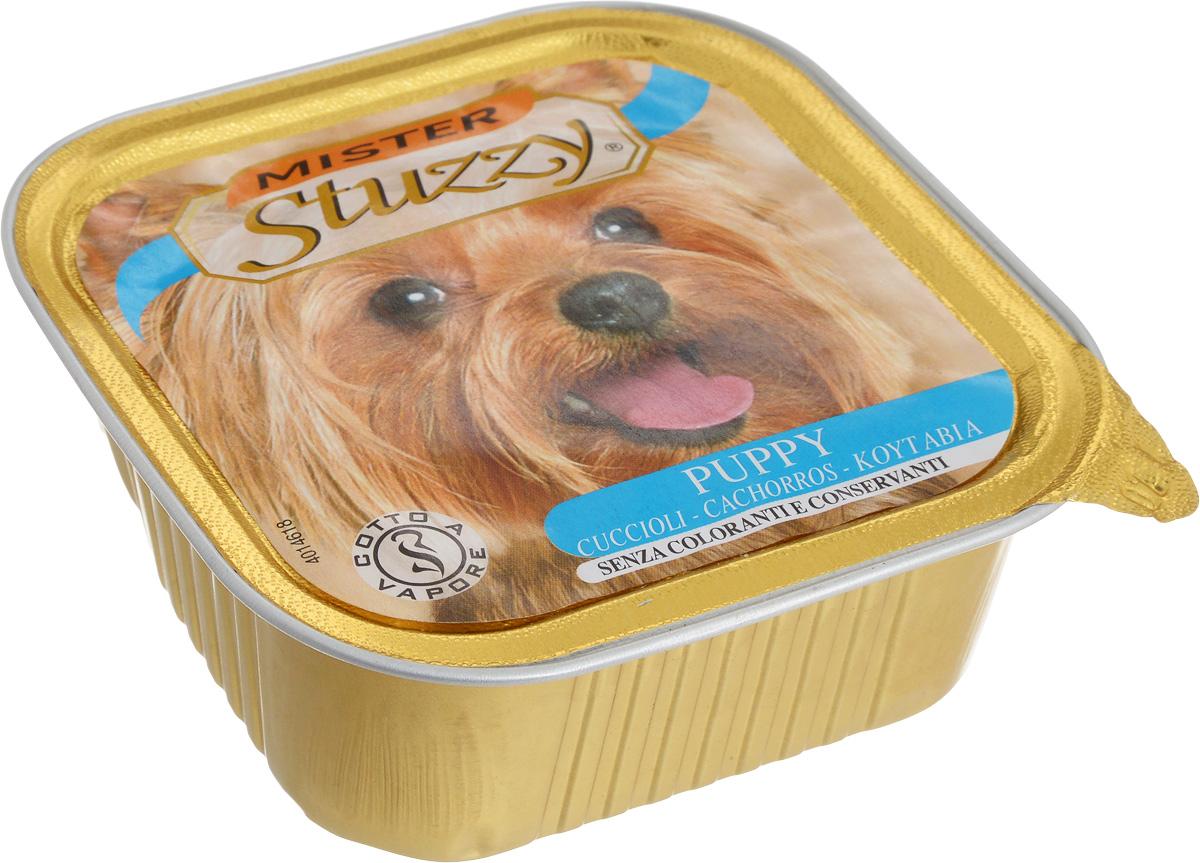 Консервы Stuzzy Mister, для щенков, с курицей, 150 г131.C240Консервы Stuzzy Mister - это полноценное и сбалансированное питание для щенков. Корм обогащен таурином и витамином Е для поддержания правильной работы сердца и иммунной системы. Инулин обеспечивает всасывание питательных веществ, а биотин способствуют великолепному внешнему виду кожи и шерсти. Корм Stuzzy Mister приготовлен на пару, не содержит красителей и консервантов. Товар сертифицирован.