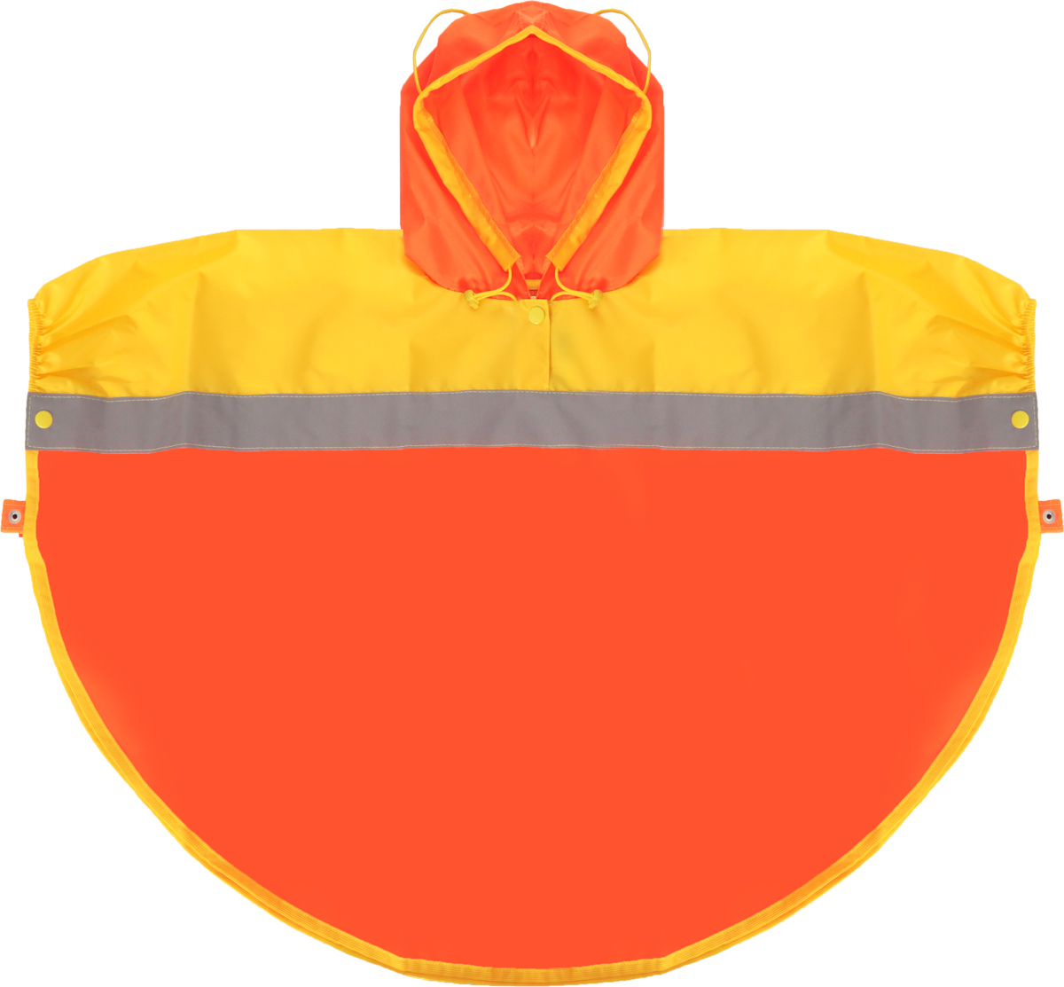 Дождевик детский Чудо-Чадо Светлячок, цвет: оранжевый, желтый. NAC04. Размер 86/92