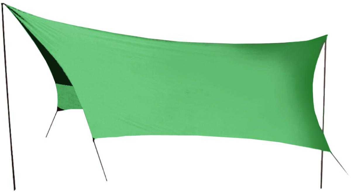 """Удобный тент со стойками """"Tramp"""" предназначен для защиты от дождя и солнца. Изделие очень просто устанавливается. Идеально подходит для отдыха на открытом воздухе в летнее время, спасает от легкой непогоды и солнца. Тент выполнен из прочного полиэстера. Стойки изготовлены из стали толщиной 16 мм.В комплект входит чехол для переноски и хранения.Размер тента: 440 х 440 см."""