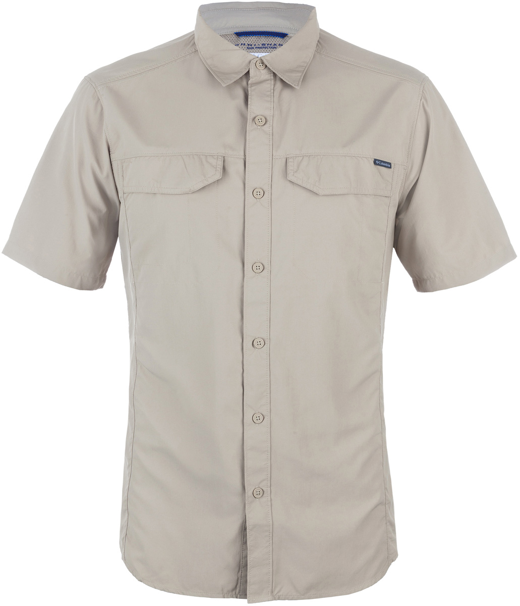 Рубашка мужская Columbia Silver Ridge SS Shirt, цвет: бежевый. 1441661-265. Размер L (48/50) columbia рубашка с длинным рукавом мужская columbia boulder ridge