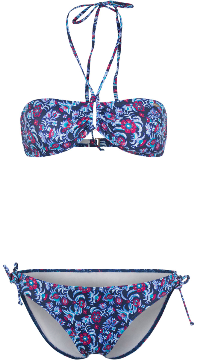 Купальник ONeill Pw Bikini, цвет: синий, красный. 7A8614-5940. Размер 34B (40B)7A8614-5940Яркий раздельный купальник ONeill, изготовленный из полиамида с добавлением эластана, быстро сохнет и сохраняет первоначальный вид и форму даже при длительном использовании. Лиф-бандо завязывается на эластичные завязки на шее и застегивается на застежку на спине. Трусики-бикини имеют стандартную посадку и завязки по бокам для регулировки посадки. Модель оформлена оригинальным принтом.