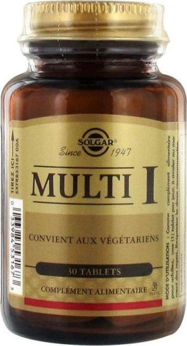 Солгар Мульти-1, 30 таблеток221435Витаминно-минеральный комплекс Solgar Multi I – это сбалансированный комплекс, в состав которого входят микроэлементы, необходимые нашему организму каждый день. В данном комплексе все компоненты представлены в наиболее усваиваемых формах, дозировка не превышает допустимый объем.Сфера применения: Витаминология. Товар сертифицирован.