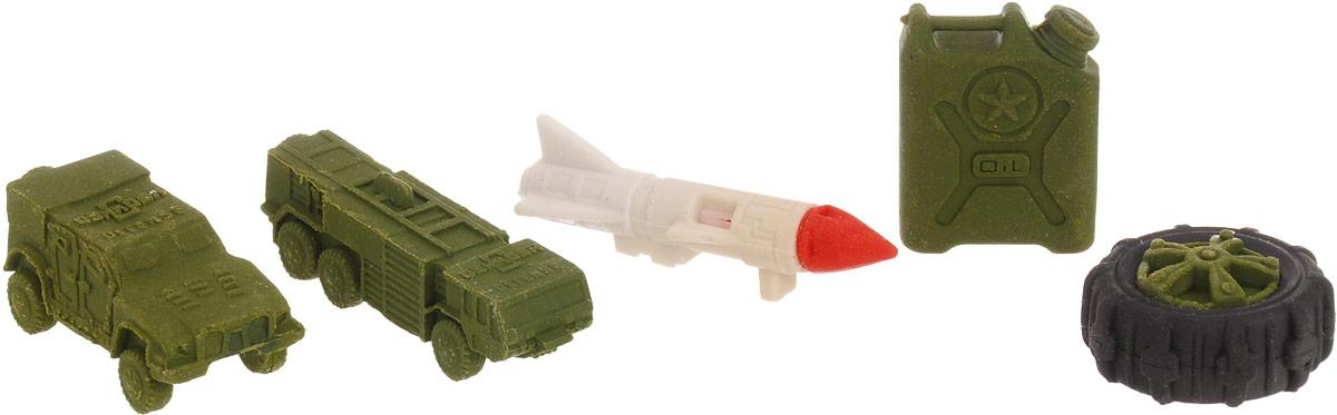 Бумбарам Набор ластиков-пазлов Военная техника 4 шт бумбарам набор ластиков пазлов животные 5 шт