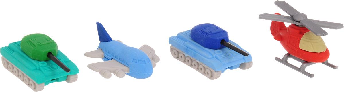 Бумбарам Набор ластиков-пазлов Военный транспорт 4 шт бумбарам набор ластиков пазлов животные 5 шт