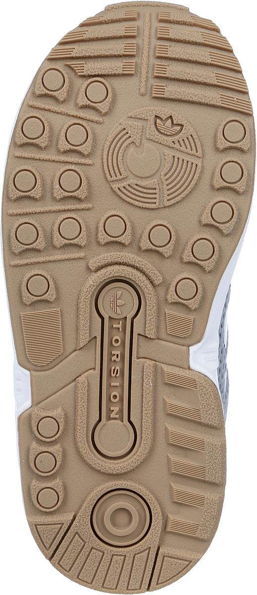 Кроссовки для мальчика adidas Zx Flux El I, цвет:  серый, белый.  BA7563.  Размер 20 (20) Adidas