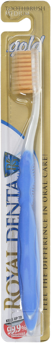 Royal Denta Зубная щетка Gold с наночастицами золота цвет: голубой