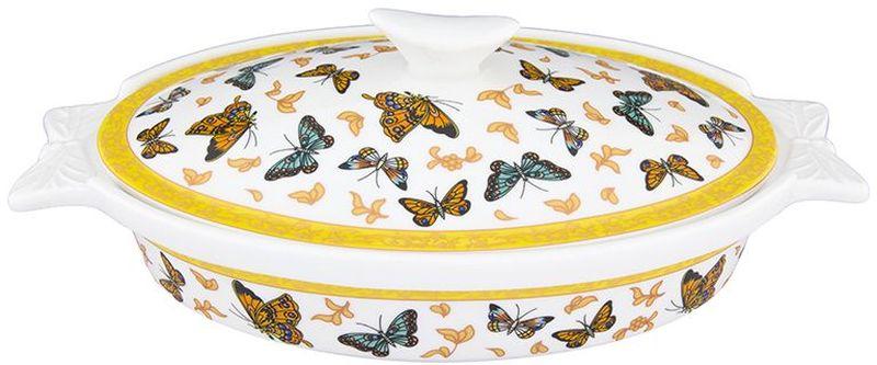 Блюдо для запекания Elan Gallery Бабочки, с крышкой, 600 мл180908Блюдо для запекания и сервировки Elan Gallery Бабочки украсит ваш праздничный стол. Изделие выполнено из высококачественного фарфора и оформлено красочным изображением бабочек. Размер этого блюда подходит и для подачи горячего, и для приготовления и хранения слоеных салатов.Соберите всю коллекцию предметов сервировки Бабочки и ваши гости будут в восторге! Изделие имеет подарочную упаковку, поэтому станет желанным подарком для ваших близких!