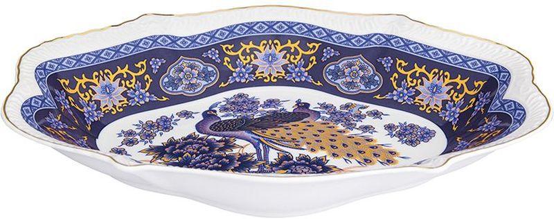 Блюдо Elan Gallery Павлин синий, овальное, 570 мл