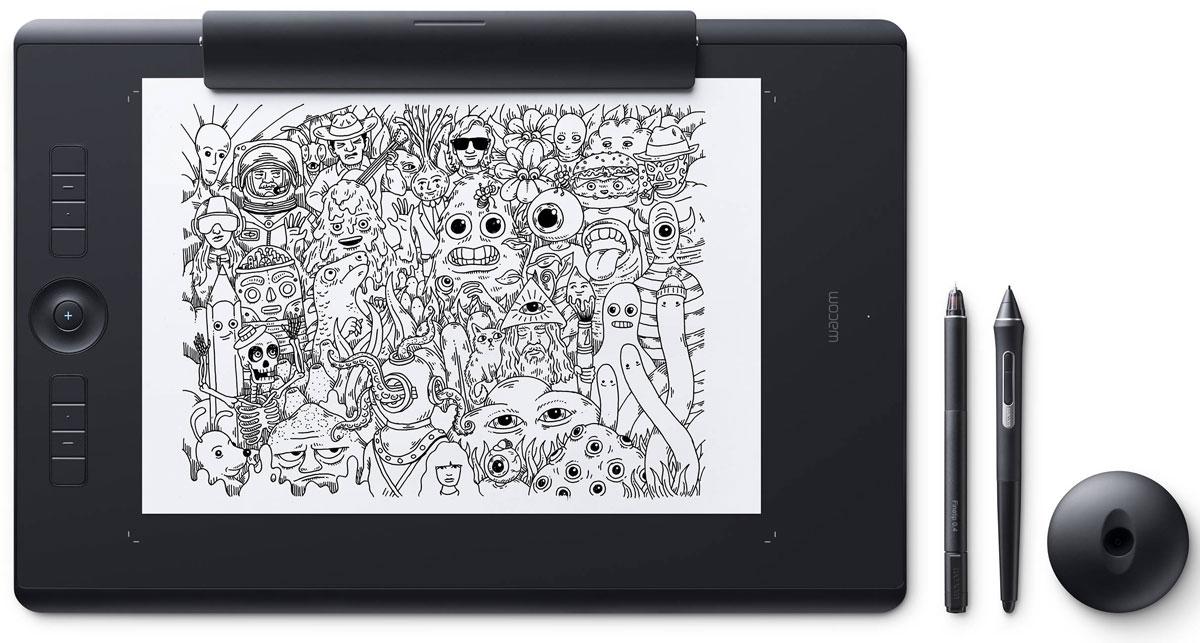 Wacom Intuos Pro Large Paper графический планшет (PTH-860P-R)4949268620628Wacom Intuos Pro Large Paper - это сочетание современных технологий и рисования на выбранной вами бумаге. Это новый, но и такой знакомый способ работы. Пока вы будете наслаждаться рисованием ручкой Finetip Pen по бумаге, планшет Wacom Intuos Pro Large Paper запомнит каждый ваш штрих, чтобы в дальнейшем вы могли его доработать в любимой программе. Или сразу подключите Wacom Intuos Pro Large Paper к компьютеру и работайте новейшим цифровым пером Wacom Pro Pen 2 в графическом приложении.Корпус Wacom Intuos Pro Large Paper сделан из высококачественных первоклассных материалов: черного анодированного алюминия и стекловолокнистого композитного пластика. Несмотря на толщину всего 8 мм, планшет на ощупь надежный и прочный.В комплект Wacom Intuos Pro Large Paper включена подставка для пера со стальным основанием, предназначенная для хранения запасных наконечников. А еще в нее встроен удобный инструмент для замены наконечников.Настраиваемые клавиши ExpressKeys и сенсорное кольцо Touch Ring обеспечивают быстрый доступ к повседневным задачам. Жесты multi-touch делают навигацию по рабочим материалам очень простой — как на смартфоне.8192 уровней давления пераВстроенный модуль Bluetooth