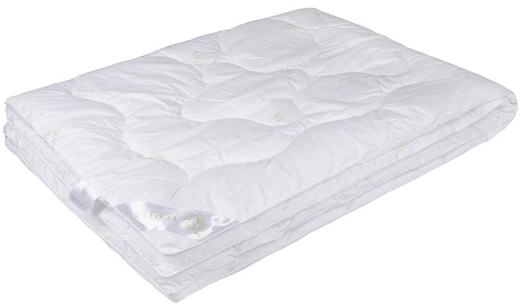 Одеяло Ecotex Бамбук-Премиум, облегченное, наполнитель: бамбуковое волокно, 200 х 220 смООБЕОблегченное одеяло Ecotex Бамбук-Премиум подарит комфортный и здоровый сон. В качестве наполнителя используется бамбуковое волокно. Чехол одеяла выполнен из перкаля (100% хлопок). Важные потребительские свойства изделий коллекции Бамбук-Премиум:- экологически чистый природный материал, - высокие антибактериальные свойства, - гипоаллергенность: не вызывает раздражения и аллергии, - ощущение свежести: регулирует влажность и теплообмен, - долговечность: сохраняет свои первоначальные свойства и форму после многократных стирок.