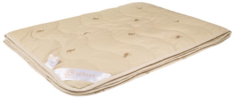 Одеяло Ecotex Премиум Караван, облегченное, наполнитель: верблюжья шерсть, цвет: светло-бежевый, 172 х 205 смООВТ2Одеяло Ecotex очень мягкое, уютно теплое и активно дышащее, обладает прекрасными функциональными свойствами. Благодаря уникальной комбинации теплозащитных и вентилирующих свойств одеяло создает идеальный микроклимат во время сна.В составе одеяла присутствует ланолин, благоприятно воздействующий на кожу, мышцы и суставы.Размер одеяла: 172 х 205 см.