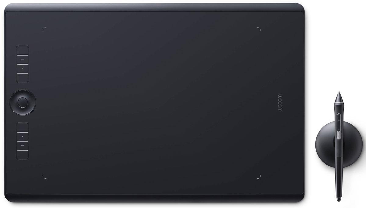 Wacom Intuos Pro Large графический планшет (PTH-860-R)4949268620611Wacom Intuos Pro — это триумф современных технологий. Это новые ощущения и результаты работы с пером Wacom Pro Pen 2. Это утонченный дизайн и беспроводное (bluetooth) соединение с ПК. Это вспомогательные клавиши Express Keys и сенсорное кольцо Touch Ring. Создавайте новое с новым Intuos Pro!Подключите Wacom Intuos Pro к своему компьютеру Mac или PC с Windows, используя USB-кабель или технологию Bluetooth, установите драйверы — и можете приступать к работе в любом творческом приложении.Новое перо Wacom Pro Pen 2 незамедлительно превратится в ваш любимый инструмент для творчества. Оно обладает повышенной чувствительностью, точностью и быстротой реакции по сравнению со всеми выпущенными ранее моделями.Корпус Wacom Intuos Pro сделан из высококачественных первоклассных материалов: черного анодированного алюминия и стекловолокнистого композитного пластика. Несмотря на толщину всего 8 мм, планшет на ощупь надежный и прочный.В комплект всех Wacom Intuos Pro включена подставка для пера со стальным основанием, предназначенная для хранения запасных наконечников. А еще в нее встроен удобный инструмент для замены наконечников.Настраиваемые клавиши ExpressKeys и сенсорное кольцо Touch Ring обеспечивают быстрый доступ к повседневным задачам.Благодаря боковым кнопкам Wacom Pro Pen 2 нужные команды и элементы управления всегда у вас под рукой.Жесты multi-touch делают навигацию по рабочим материалам очень простой — как на смартфоне.