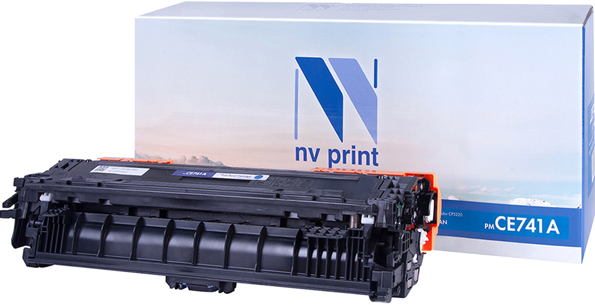 NV Print CE741AC, Cyan тонер-картридж для HP Color LaserJet CP5220 картридж для принтера nv print для hp cf403x magenta