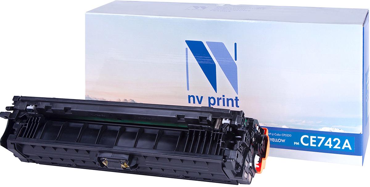 NV Print CE742AY, Yellow тонер-картридж для HP Color LaserJet CP5220NV-CE742AYСовместимый лазерный картридж NV Print CE742AY для печатающих устройств HP - это альтернатива приобретению оригинальных расходных материалов. При этом качество печати остается высоким. Картридж обеспечивает повышенную четкость изображения и плавность переходов оттенков и полутонов, позволяют отображать мельчайшие детали изображения. Лазерные принтеры, копировальные аппараты и МФУ являются более выгодными в печати, чем струйные устройства, так как лазерных картриджей хватает на значительно большее количество отпечатков, чем обычных. Для печати в данном случае используются не чернила, а тонер.