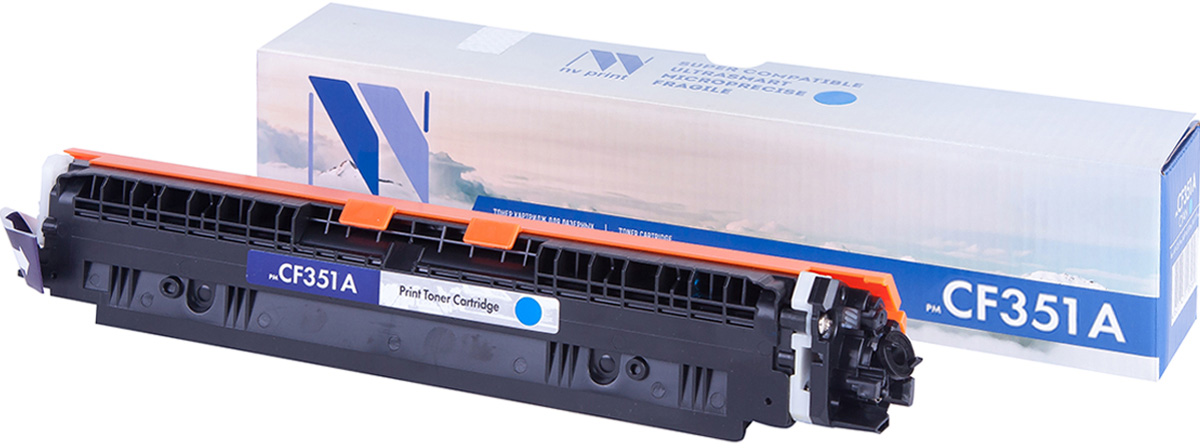 NV Print CF351AC, Cyan тонер-картридж для HP Color LaserJet Pro MFP 153/M176/M177 картридж hp 933xl cn054ae cyan